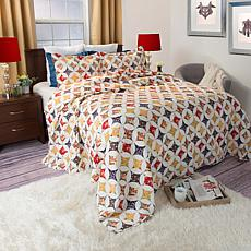 Lavish Home 2-piece Cassandra Quilt Set - Twin