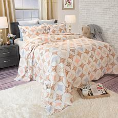 Lavish Home 2-piece Charlotte Quilt Set - Twin