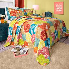 Lavish Home 2-piece Regan Quilt Set - Twin