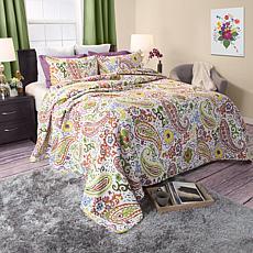 Lavish Home 2-piece Trista Cotton Quilt Set - Twin