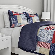 Lavish Home 2pc Patriotic Americana Quilt Set - Twin