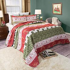 Lavish Home 3-piece Brea Cotton Quilt Set - Full/Queen