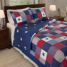 Lavish Home 3-piece Caroline  Quilt Set - Full/Queen