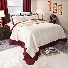 Lavish Home 3-piece Juliette Embroidered Quilt Set - Ki
