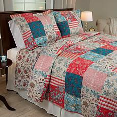 Lavish Home 3-piece Mallory Quilt Set - King