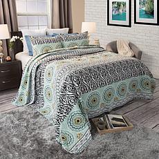 Lavish Home 3-piece Muna Cotton Quilt Set - Full/Queen