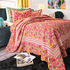 Lavish Home 3-piece Paisley Quilt Set - King