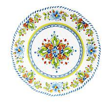 Le Cadeaux Madrid White 4-piece Salad Plate Set