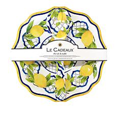 Le Cadeaux Palermo Salad Serving Bowl and Utensil Set