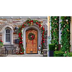 Leaf & Petal Designs 20' Mixed Evergreen Garland