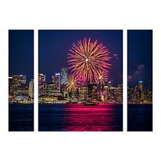 "Leclerc ""Vancouver Fireworks"" Panel Art - 30"" x 41"""