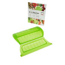 Lekue 2-Serving Silicone Steam Case with Rack and Cookbook