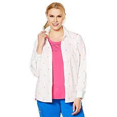 Lemon Way 365 Poplin Stretch Embroidered Button-Down Shirt