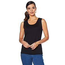 Lemon Way Perfect Pima Scoop-Neck Tank - Basic