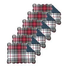Lennox Plaid Quilted Placemat Set of 6