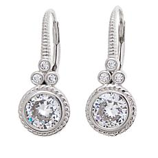 "Leslie Greene 1.89ctw CZ ""Thea"" Cluster Earrings"
