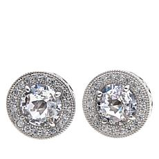 "Leslie Greene 3.4ctw CZ ""Madison"" Stud Earrings"