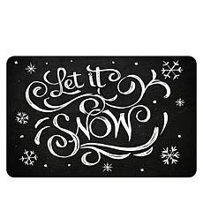 Let It Snow Premium Comfort Christmas Floor Mat