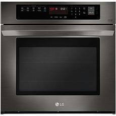 LG 30 In. Single Wall Oven with True Convection- Black Stainless Steel
