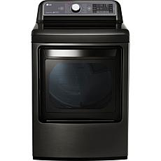 LG 7 3 Cu  Ft  Ultra Large Capacity Electric Dryer -Black Stainless