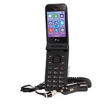 LG Classic Flip Phone Tracfone w/1200 Min/Texts/Data w/Wired Earbuds