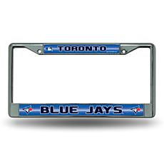 License Plate Frame with Bling - Toronto Blue Jays