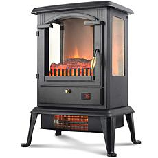 LifeSmart 3-Sided Flame View Infrared Heater Stove