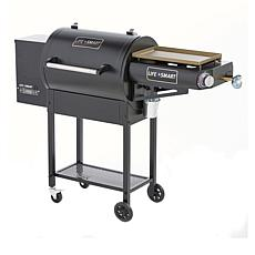 LifeSmart 600 sq. in. Wood Fire Smoker and Gas Griddle