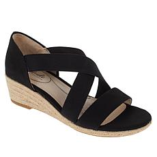 LifeStride Siesta Stretch Espadrille Wedge Sandal