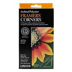 Lineco Infinity Mylar Framers Corners 240-Pack