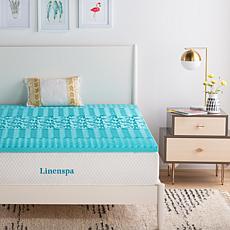 "Linenspa Essentials 2"" 5-Zone Gel Memory Foam Mattress Topper - Queen"