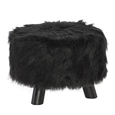 Linon Home Avery Faux Fur Stool