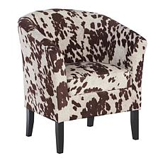 Linon Home Jackson Cow-Print Club Chair - Brown