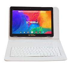 LINSAY 32GB IPS Tablet with Android 10 and Keyboard Case