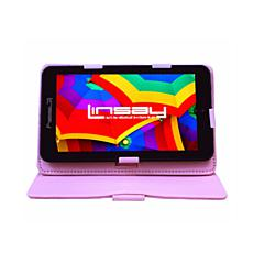 "LINSAY 7"" 16GB Android 10 Tablet with Protective Case"