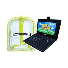 LINSAY Android Tablet with Keyboard Case and Carrying Bag