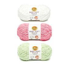 Lion Brand® Baby Soft Boucle Yarn 3-pack