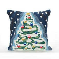 "Liora Manne  Christmas Tree 18"" Square Pillow"