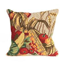"Liora Manne Frontporch Basket 18"" Square Pillow"