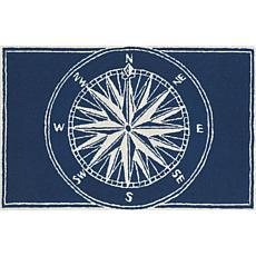 """Liora Manne Frontporch Compass - Navy - 20"""" x 30"""""""