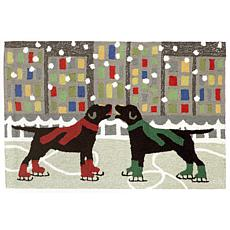 "Liora Manne Holiday Ice Dogs Rug - 30"" x 48"""