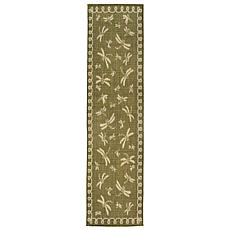 "Liora Manne Terrace Dragonfly Rug - Green - 23"" x 7-1/2"