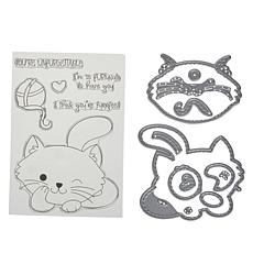 Little Darlings Adorable Kitten Stamp and Die Set