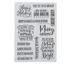 Little Darlings Holiday Spirits Sentiments Stamp Set