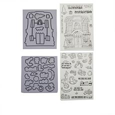 Little Darlings Pocket Pals Holiday Toys Stamp and Die Set