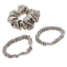 Locks & Mane 3-pack 100% Silk Scrunchie Set