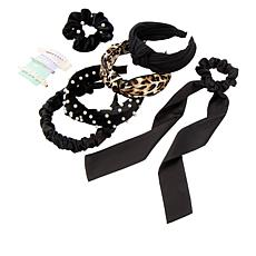 Locks & Mane Black Essentials 10-piece Hair Accessory Set
