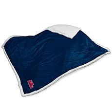 Logo Chair Sherpa Throw - Ole Miss