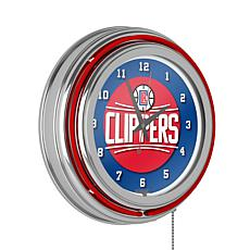 Los Angeles Clippers Double Ring Neon Clock