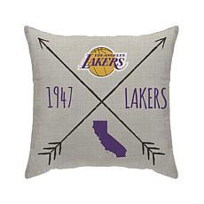 "Los Angeles Lakers 18""X18"" Duck Cloth  Décor Pillow"